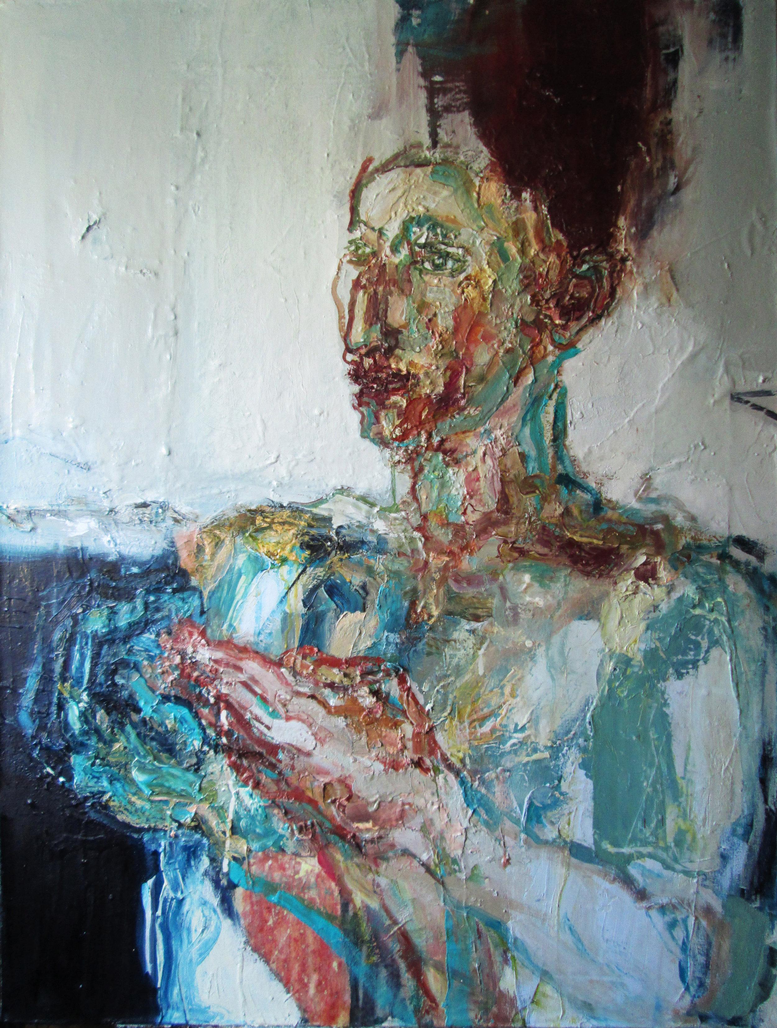 Title: Peridotite Crystal  Size: 103 x 82 cm  Medium: Oil on canvas  Price:  SOLD