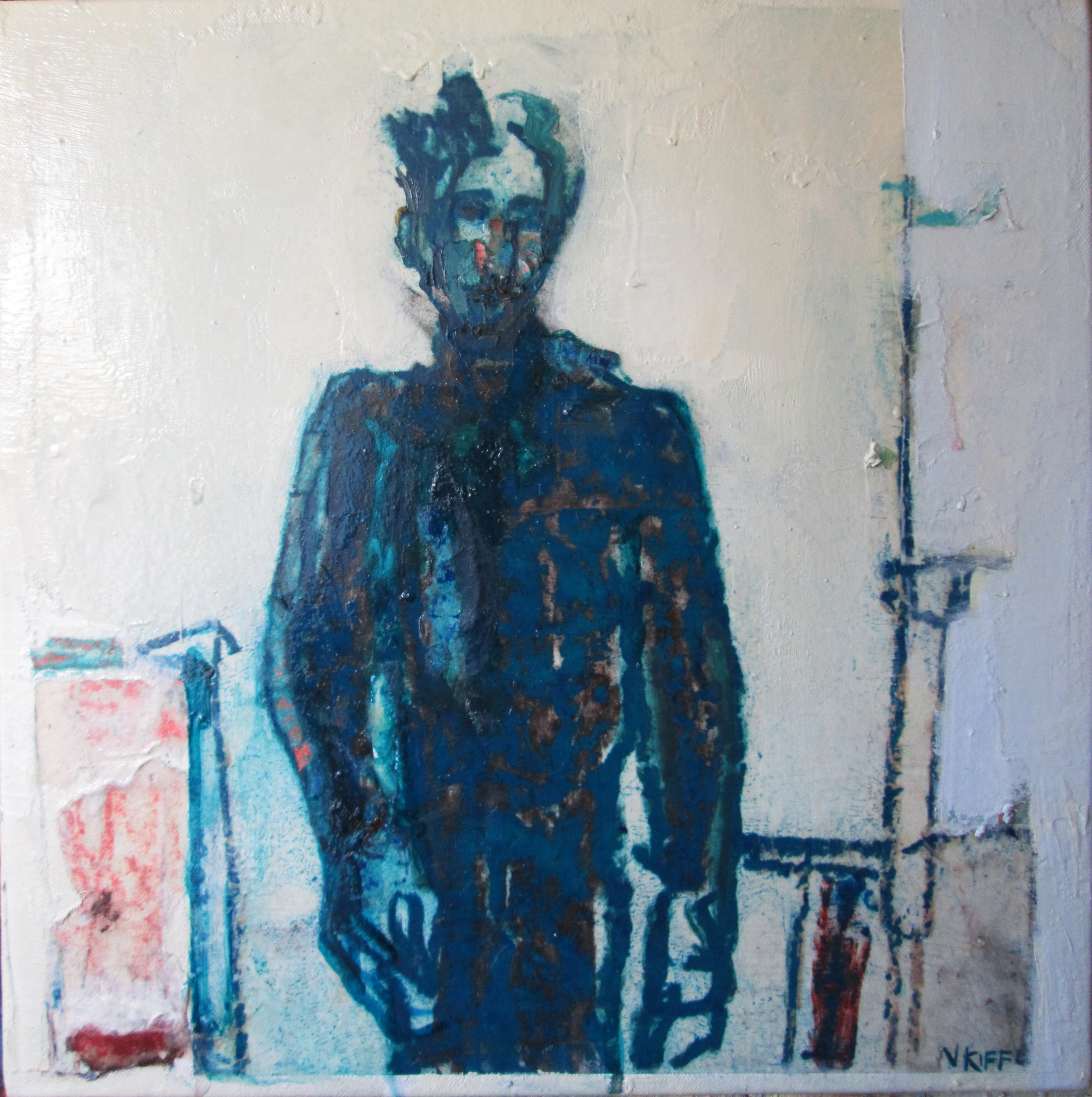 Title: The Sky Parlour  Size: 40 x 40 cm  Medium: Oil on canvas  Price: £800