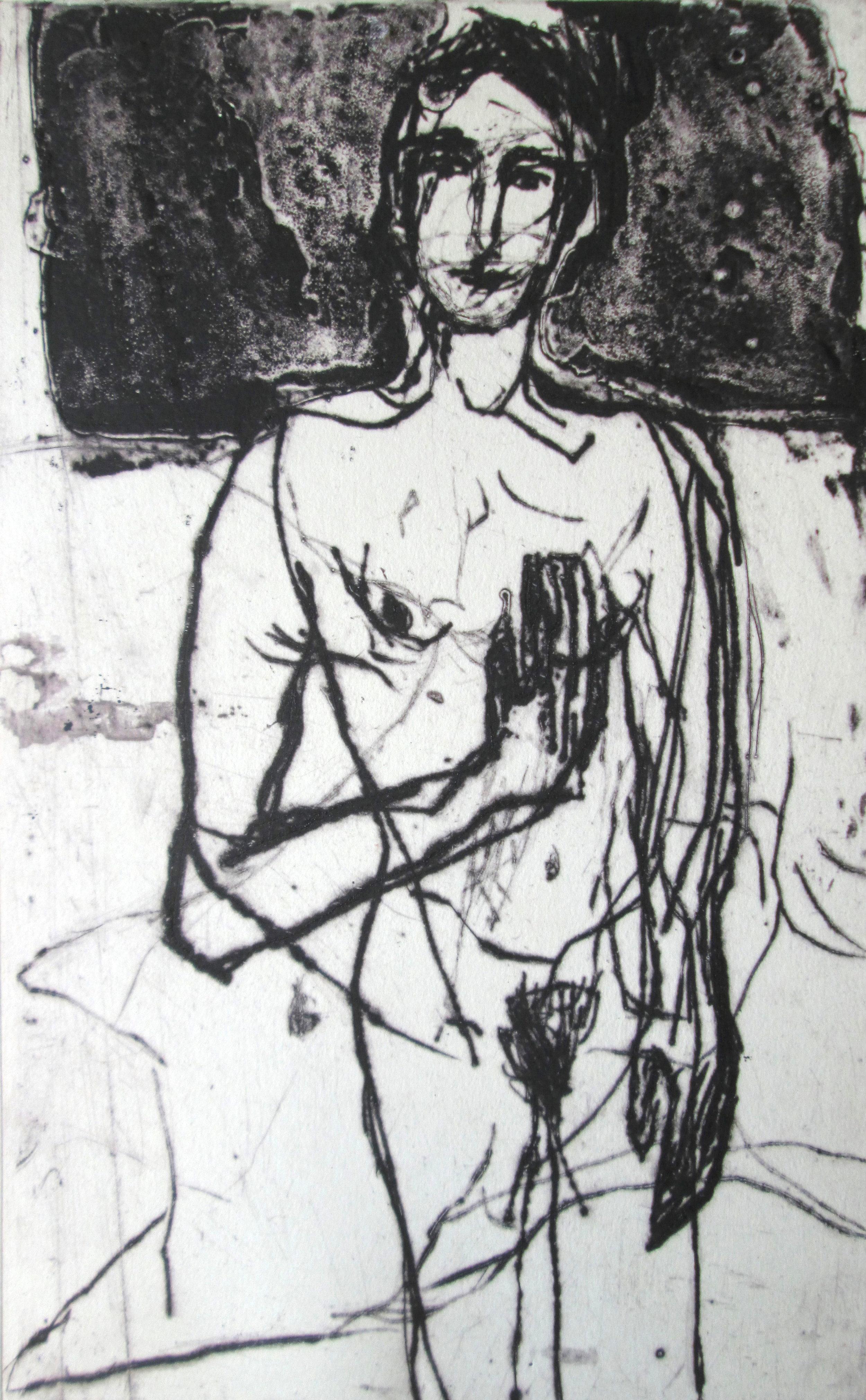 Title: The Midnight  Size: 55 x 39 cm  Medium: Dry point/ collograph  Price: £500