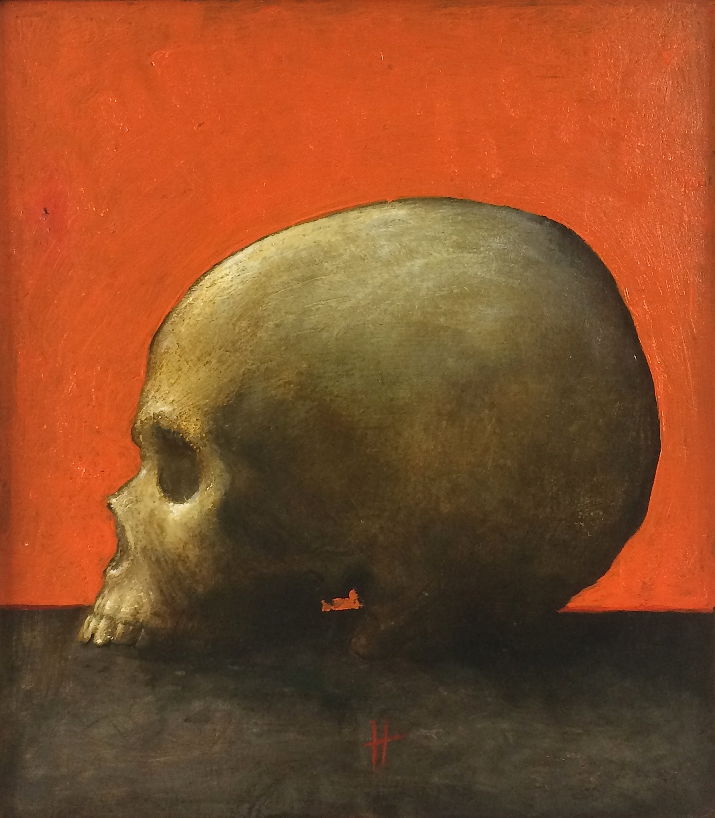 Title: Study for Skull  Size: 29 x 25 cm  Medium: Oil on panel  Price: £1,800