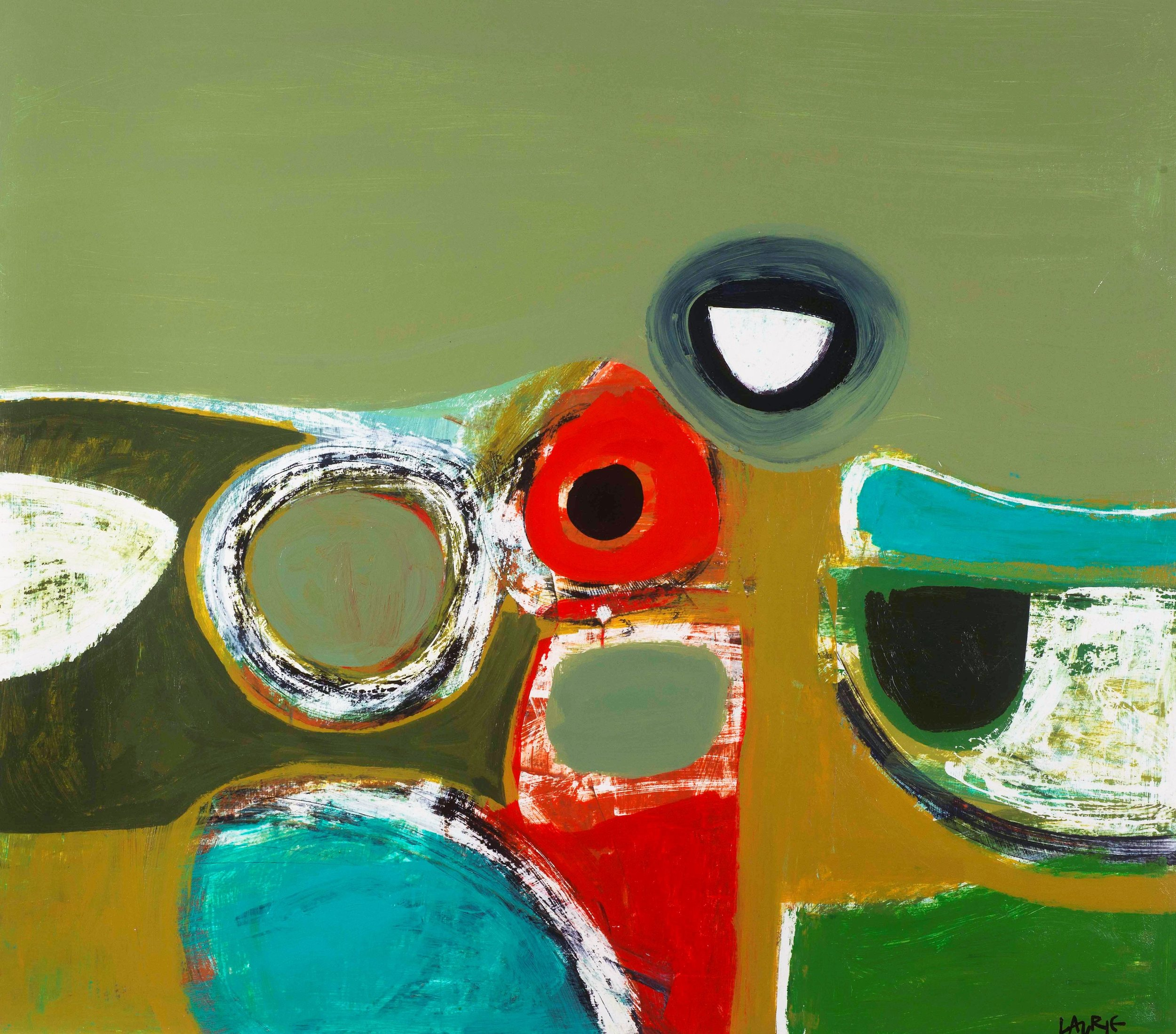 Title: Indian Summer Size: 80 x 90 cm  Medium: Acrylic on board Price: £4700 * Please contact the gallery for availability