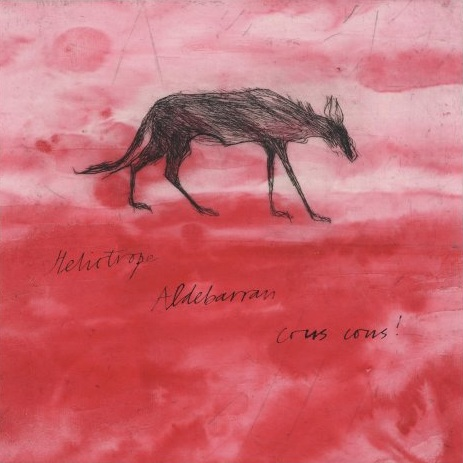 Title: Wolf on Red  Size: 30 x 30 cm  Medium: Drypoint and Chine collé  Price: £580 unframed   Buy Now
