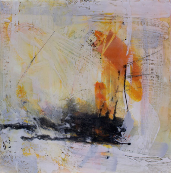 Artist: Alison Orchard  Title: Distant  Size: 40 x 40 cm  Medium: Encaustic wax on canvas  Price: £895   Buy Now