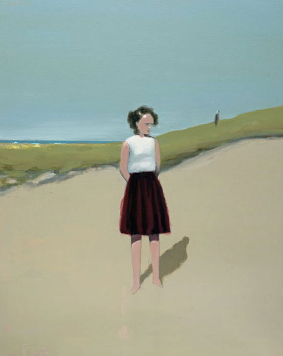 Artist: David Storey  Title: Figure on a Beach  Size: 100cm x 80 cm  Medium: oil and mixed media on canvas  Price: £3400