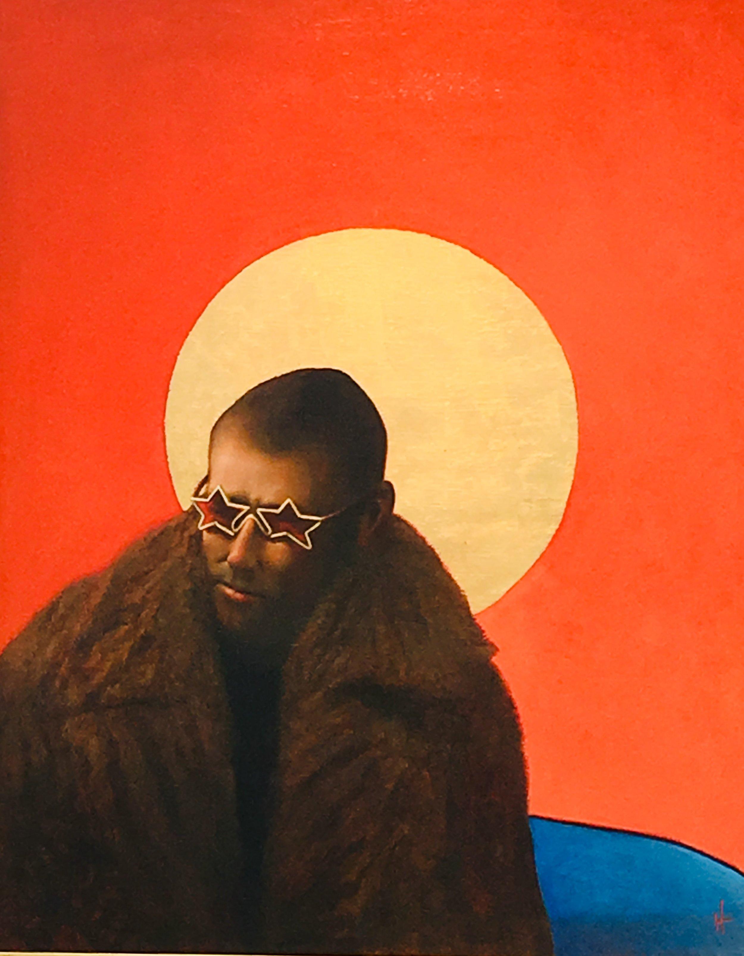 Artist: Kevin Hendley  Title: Star Man  Size:  110 x 88 cm  Medium: Oil on panel  Price: £5950