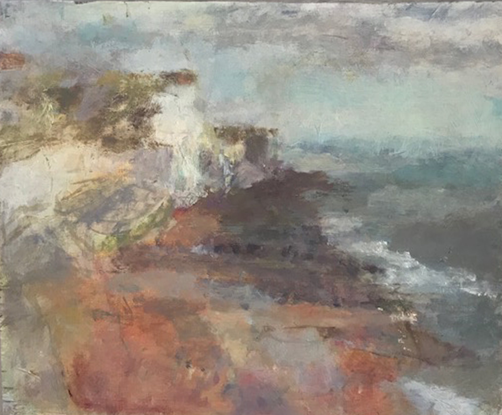 Artist: Anja Niedring  Title: Saltdean, Light Out  Size: 19.5 x 25.5 cm  Medium: Oil on board  Price: £395