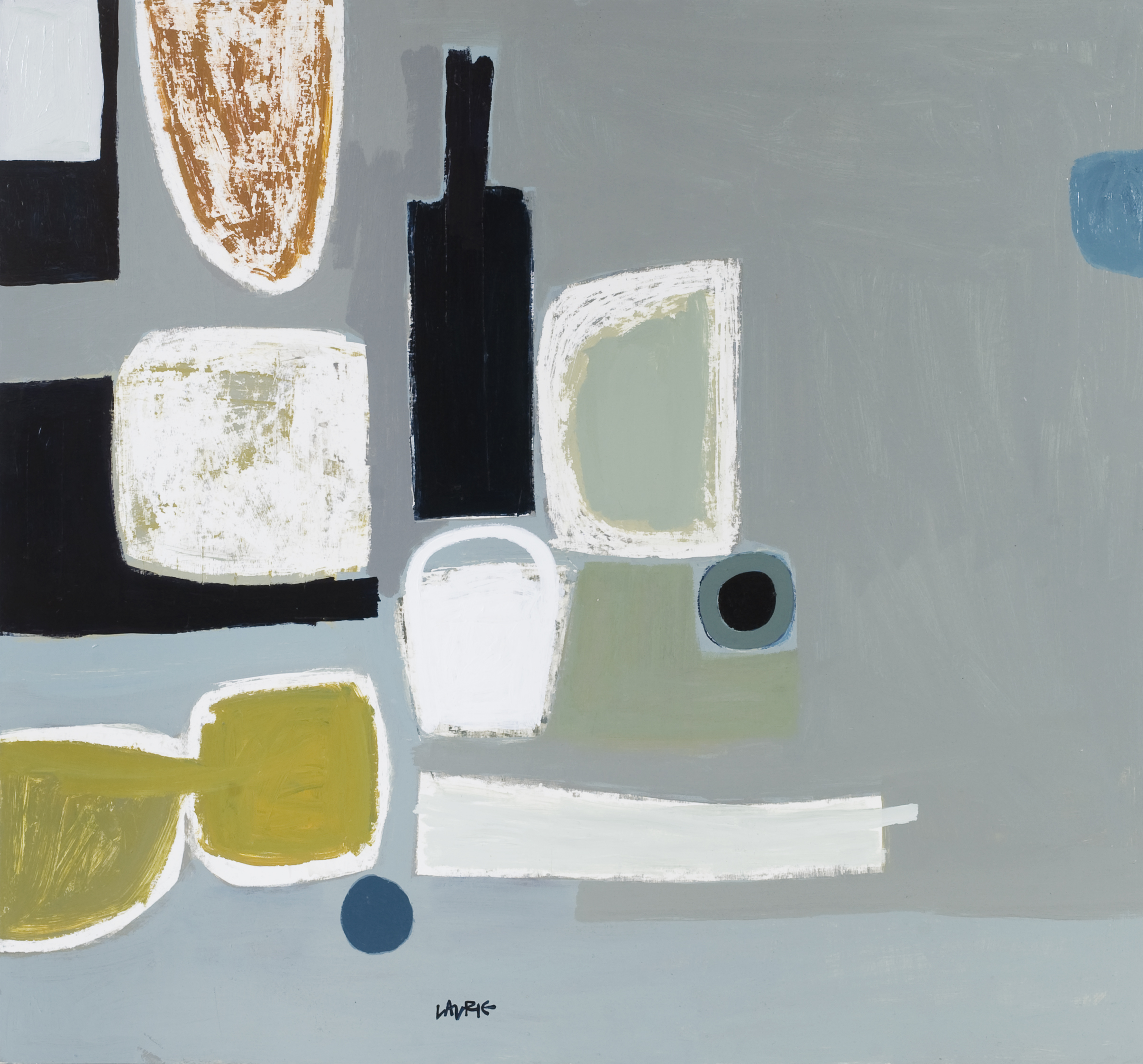 Artist: Simon Laurie  Title: Bottle and Objects  Size: 81 x 86 cm  Medium: Acrylic on board  Price: £4600   Buy Now