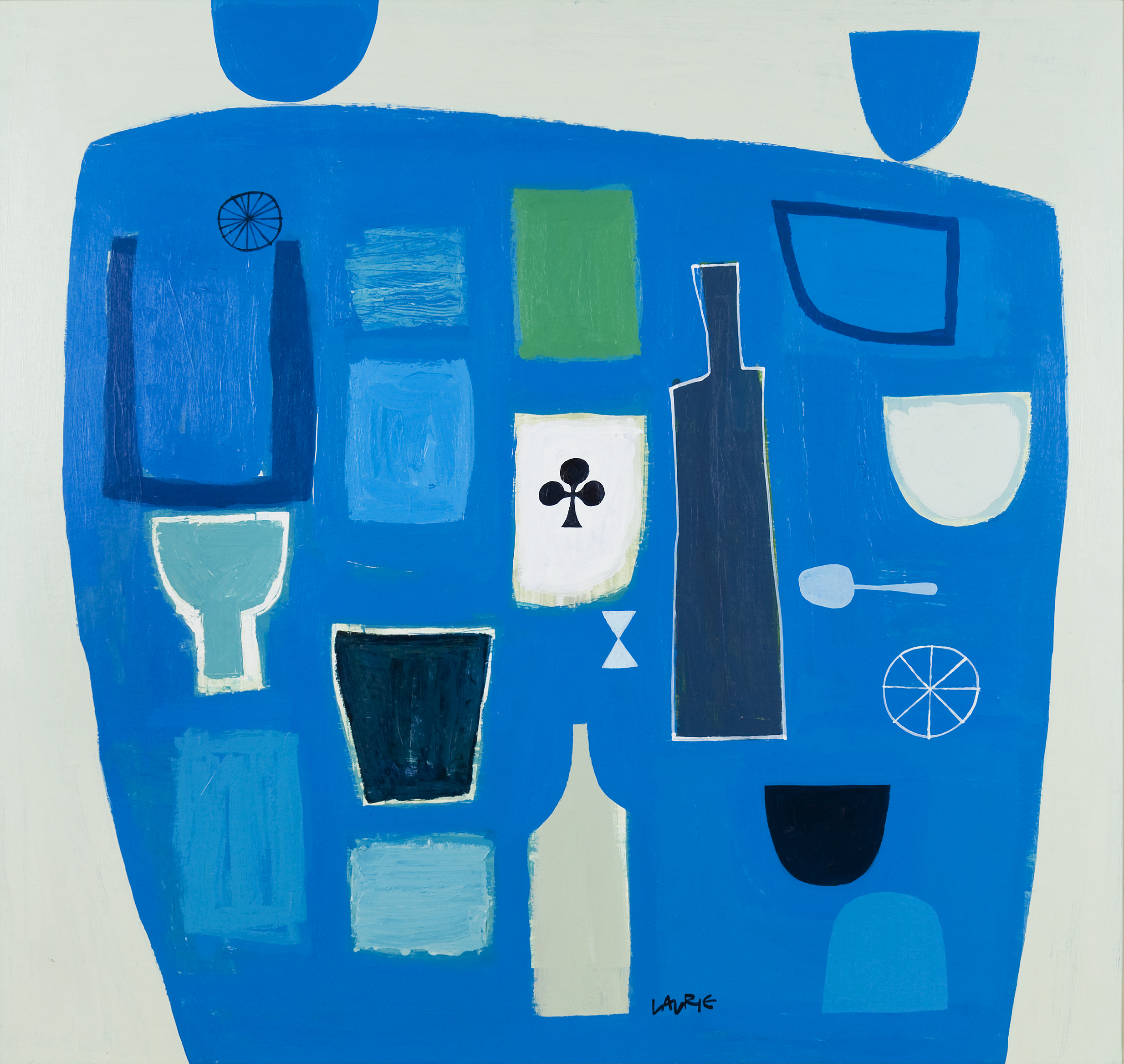 Artist: Simon Laurie  Title: Aegean Blue  Size: 81 x 86 cm  Medium: Acrylic on board  Price: £4600   Buy Now
