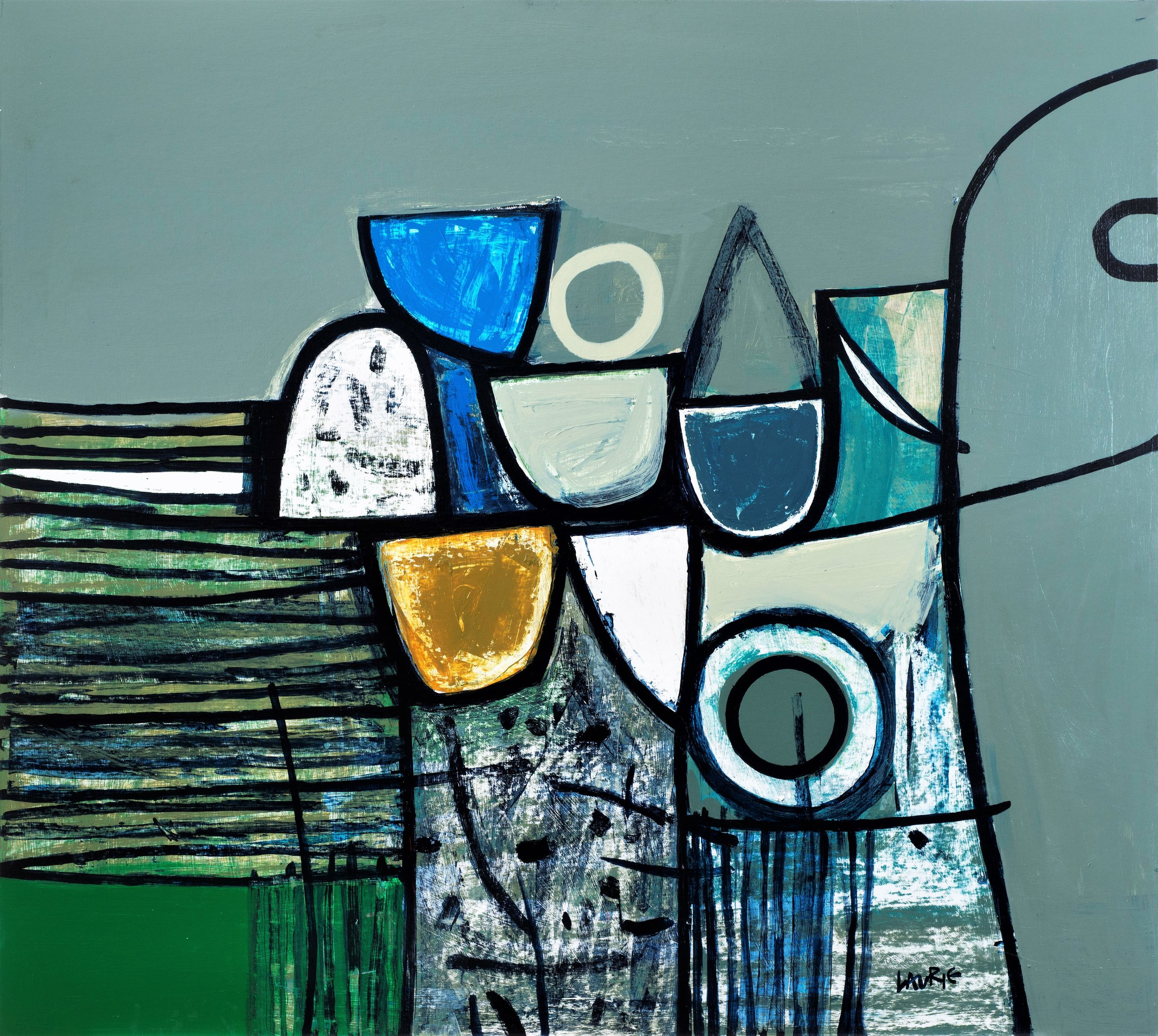 Artist: Simon Laurie  Title: Sea Defence  Size: 81 x 91 cm  Medium: Acrylic on board  Price: £4800   Buy Now