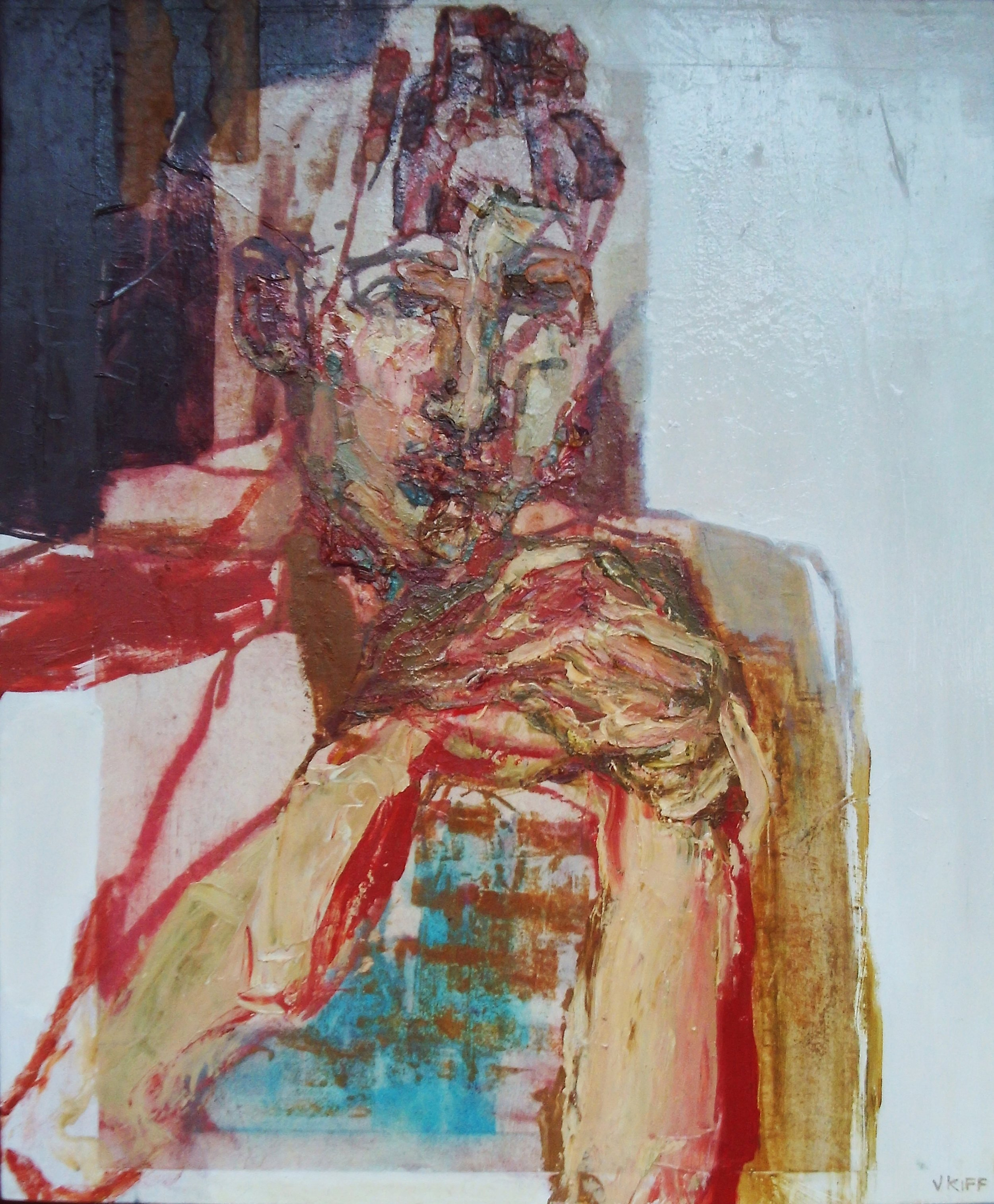 Artist: Victoria Kiff  Title: The Flesh Andira  Size: 75 x 55 cm  Medium: Oil on wood panel  Price £1900   Buy Now