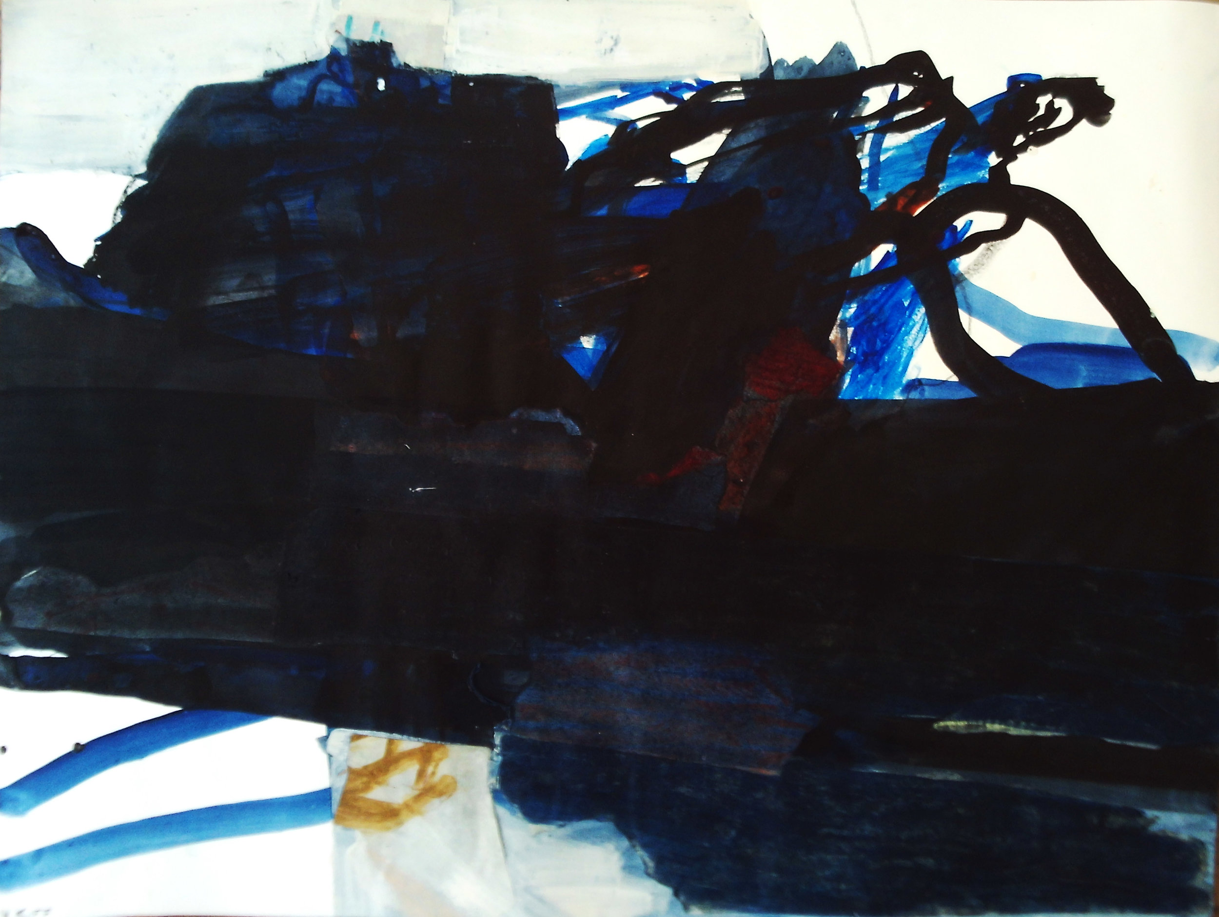 Artist: Victoria Kiff  Title: Danger in the Depths  Size: 65 x 85 cm  Medium: Ink on paper  Price: £1900   Buy Now