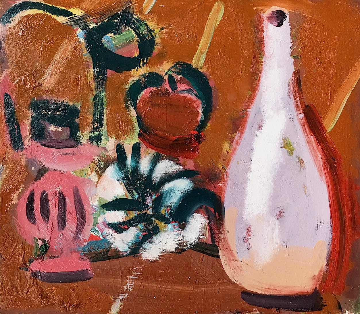 Artist: Luke Hannam  Title: Still Life II  Size: 30 x 33 cm  Medium: Oil on board  Price: £825