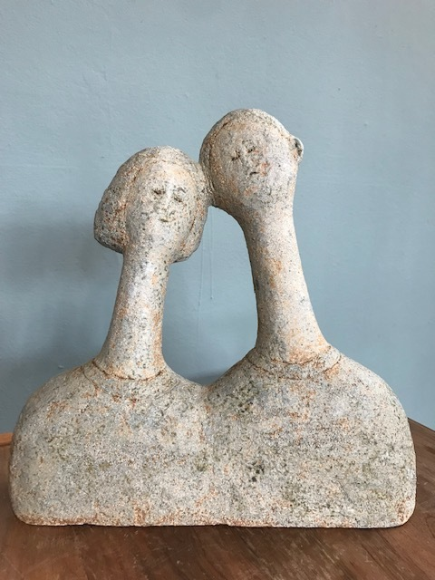 Artist: Lilia Umana Clarke  Title: Couple  Size: 28 (h)) x 28 (w) x 7 (d) cm  Medium: Ceramic stoneware  Price: £680