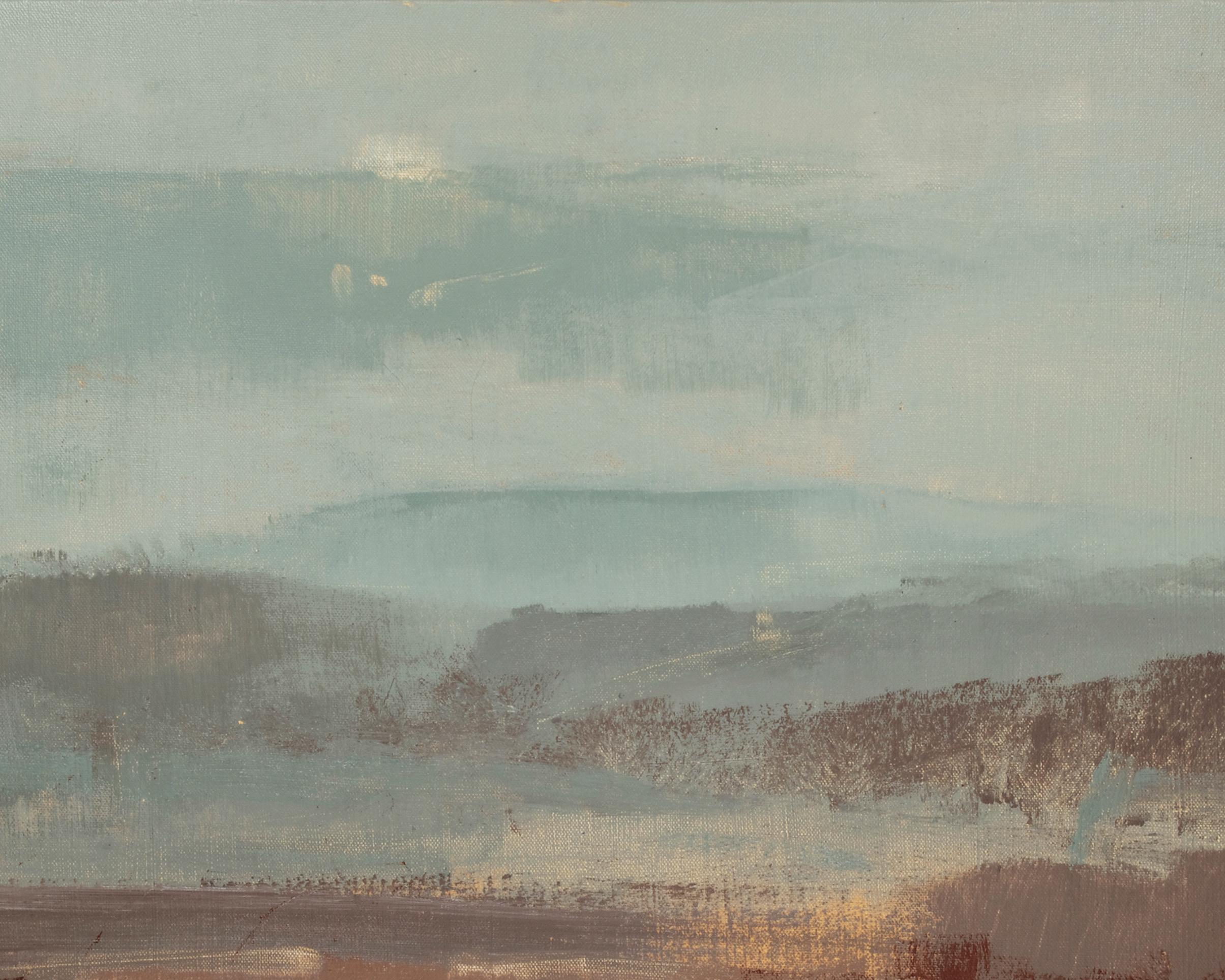 Artist: David Scott Moore  Title: Mill Hill Autumn Sunset  II  Size: 60 x 70 cm  Medium: Oil on canvas  Price: £1400