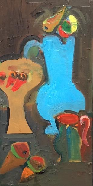 Artist: Luke Hannam  Title: Picasso's Blue Jug  Size: 61 x 30 cm  Medium: Oil on panel  Price: £1300