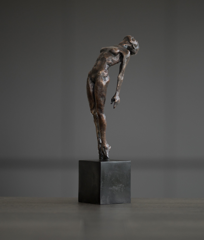 Artist: Kate Viner  Title: Release  Size: 38 x 12 x 8.5 cm (including base)  Medium: Bronze 1/12  Price: £1950