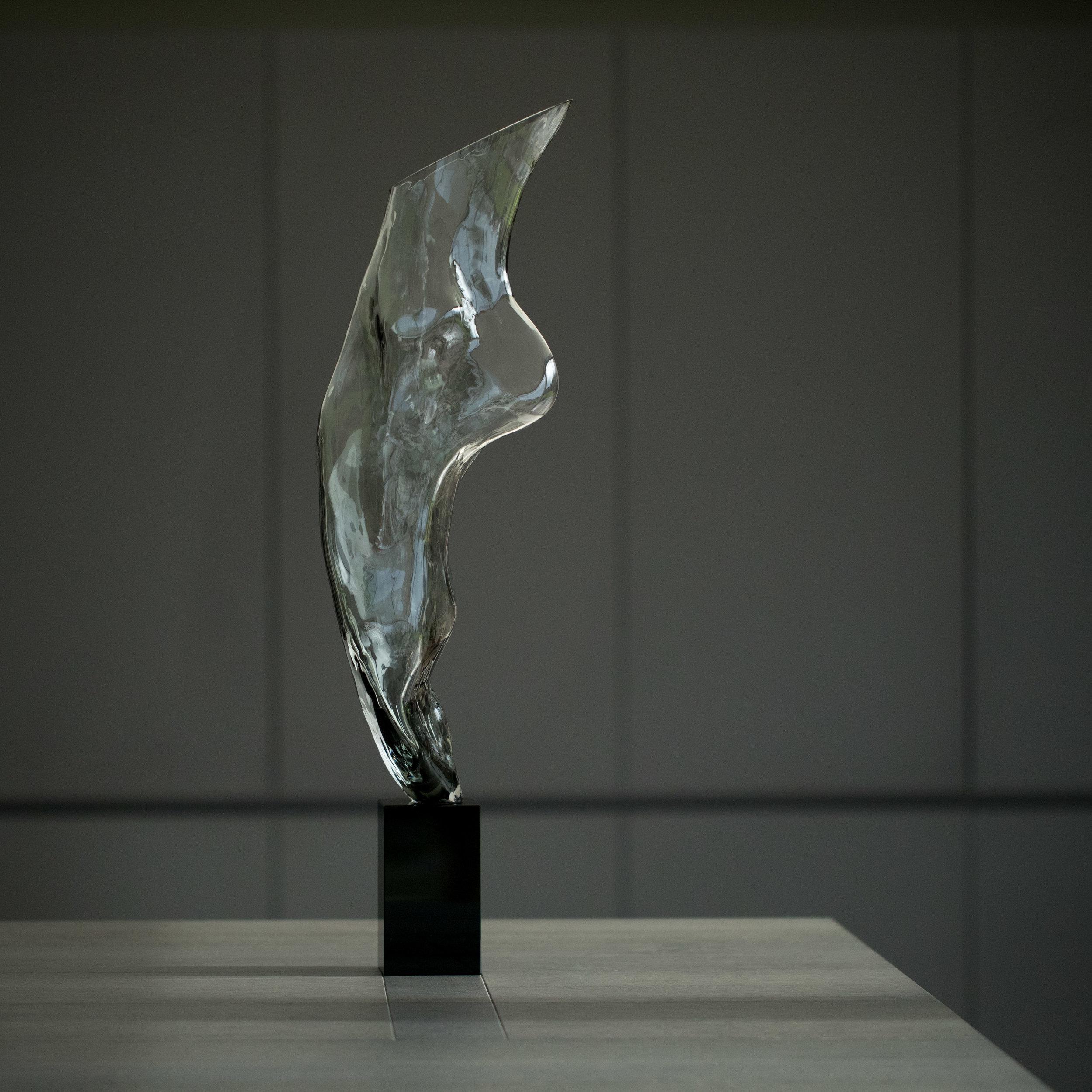Artist: Kate Viner  Title: En Pointe  Size: 72 x 20 x 15 cm  Medium: Glass  Price: £1950