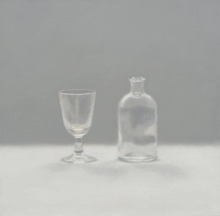 Artist: Harriet Porter  Title: Study of Diffused Light  Size: 42 x 42 cm  Medium: Oil on canvas  Price: £1200
