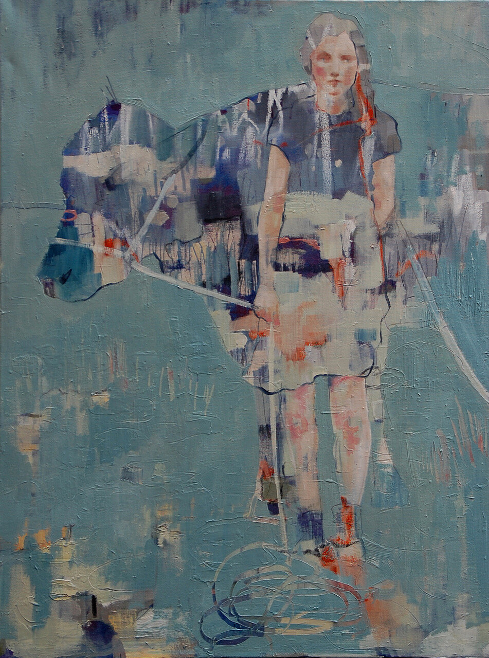 Artist: Amy Dury  Title: Cowgirl  Size: 80 x 60 cm  Medium: Oil on canvas  Price: £650