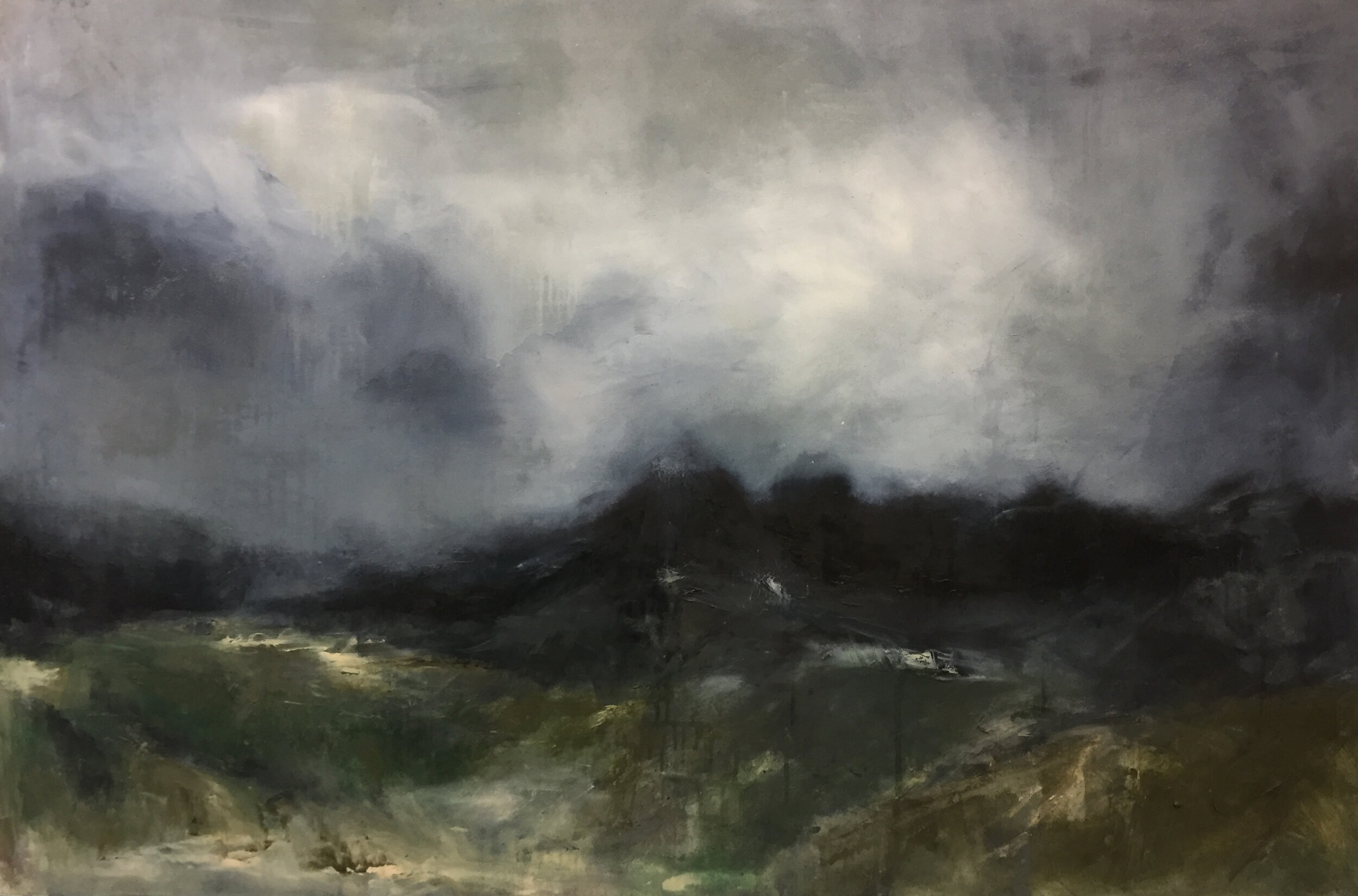 Artist: Lily Rigby  Title: Ascent  Size: 120 x 180 cm  Medium: Oil on canvas  Price: £3500