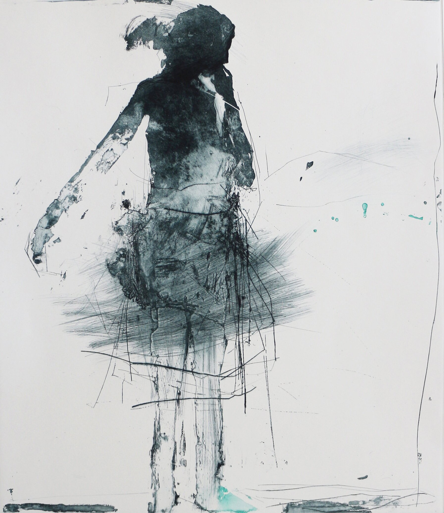 Artist: Henry Jabbour  Title: Dancer III  Size: 56 x 49 cm  Medium: Lift ground etching and aquatint from two copper plates with drypoint and spit bite  Price: £760