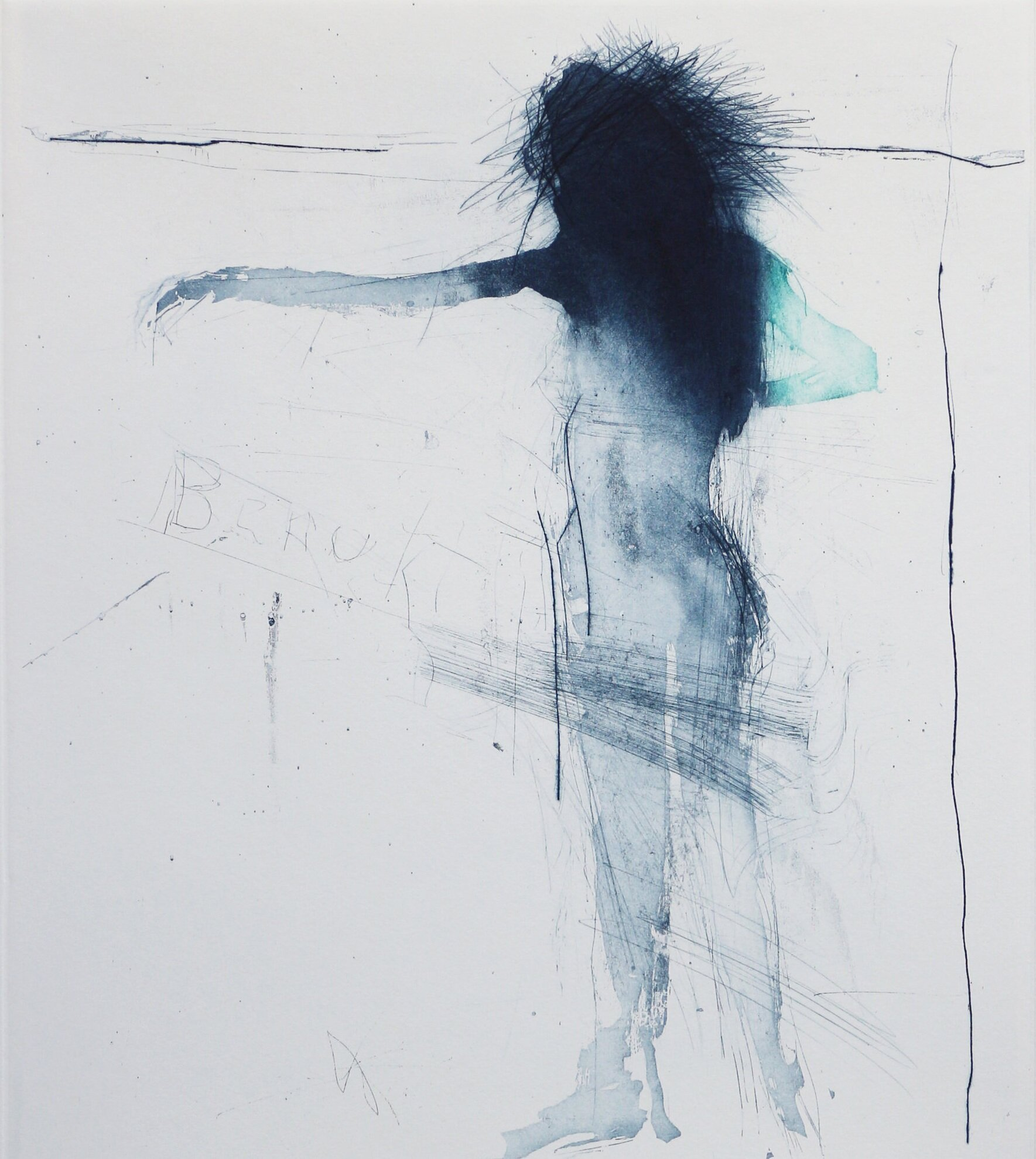 Artist: Henry Jabbour  Title: Dancer IV  Size: 38 x 33 cm  Medium: Sugar lift with aquatint and dry point  Price: £560