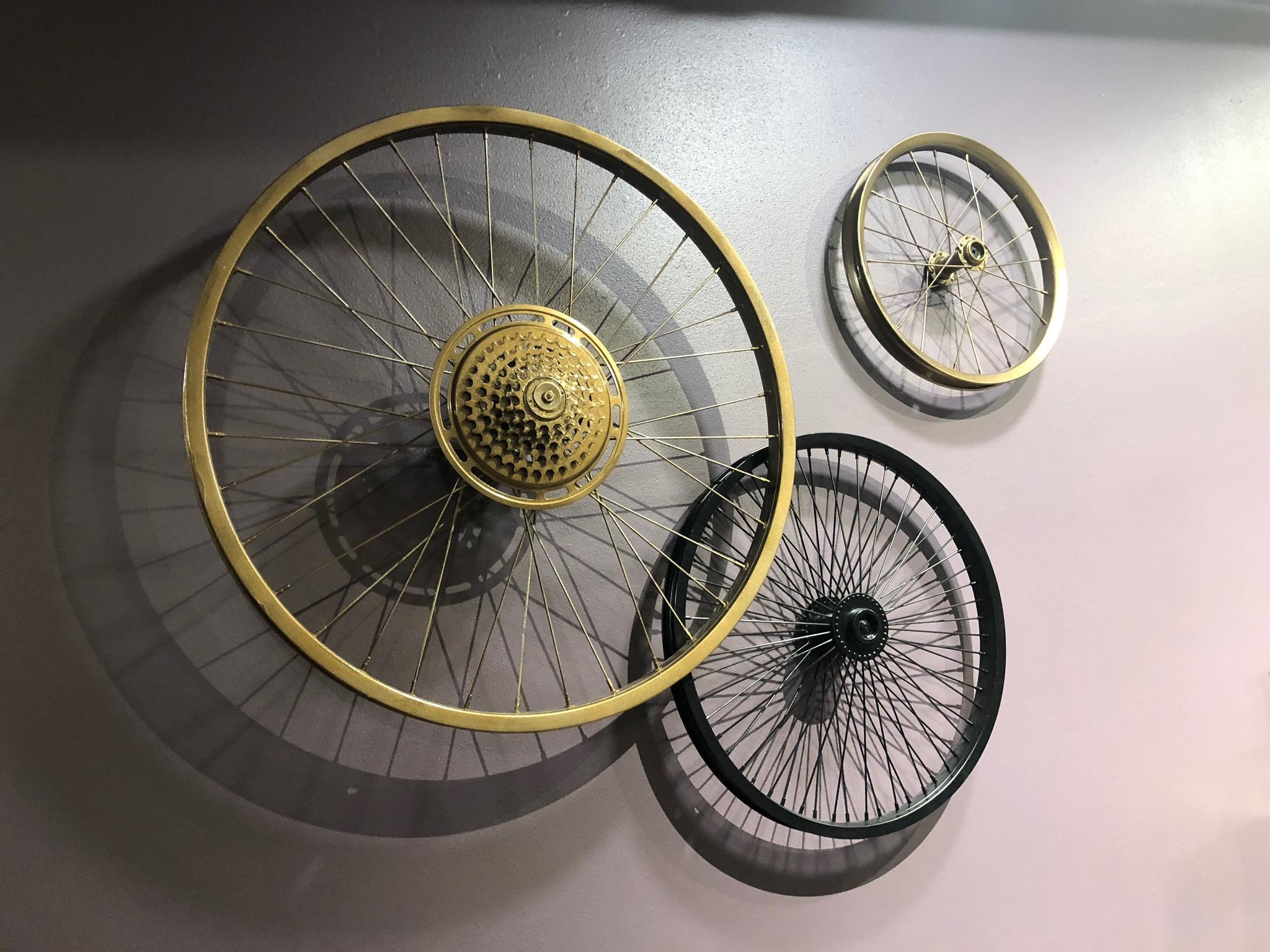Images: Bike Wheel Wall Art taken by Scribe 04jan45