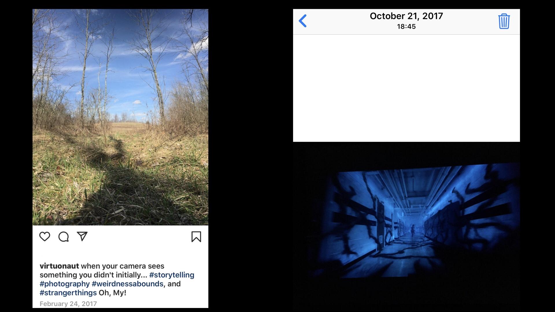 IMAGES: Left: VIRTUONAUT Right: Stranger Things Season 2 Trailer