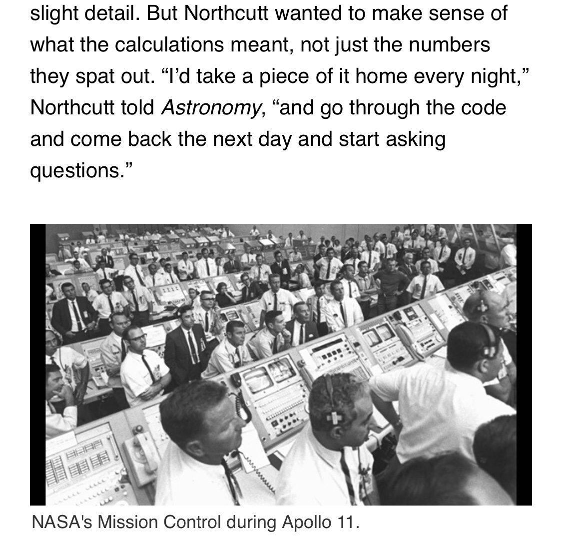 QUOTE: Poppy Northcutt, first woman in NASA's Mission Control