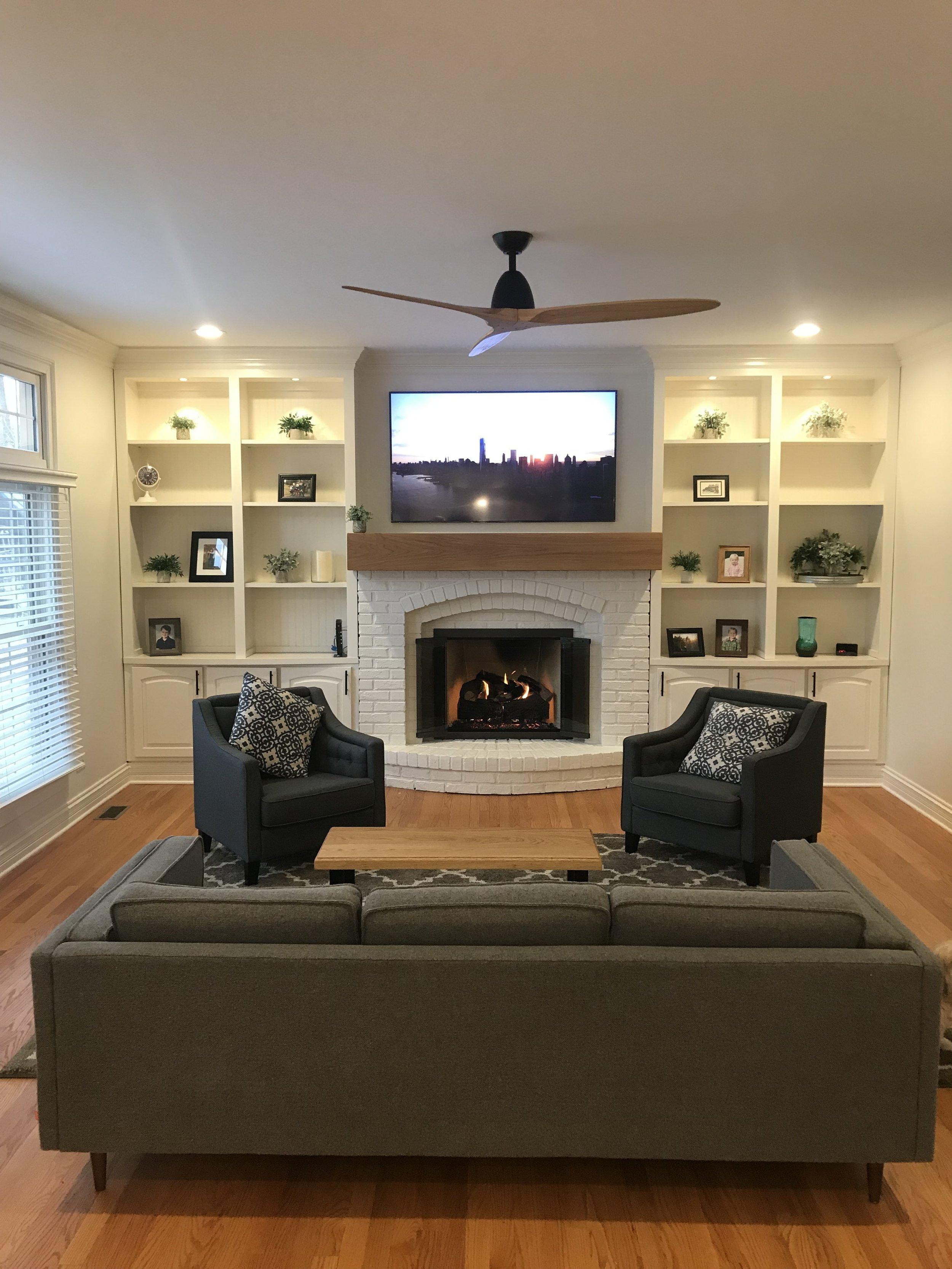 After living room design