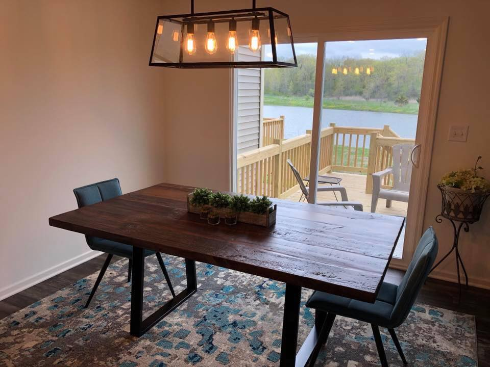 Custom Tables Near Me Dining Tables Kitchen Tables Desks All Handmade Here In Crystal Lake Il Custom Furniture And Tables