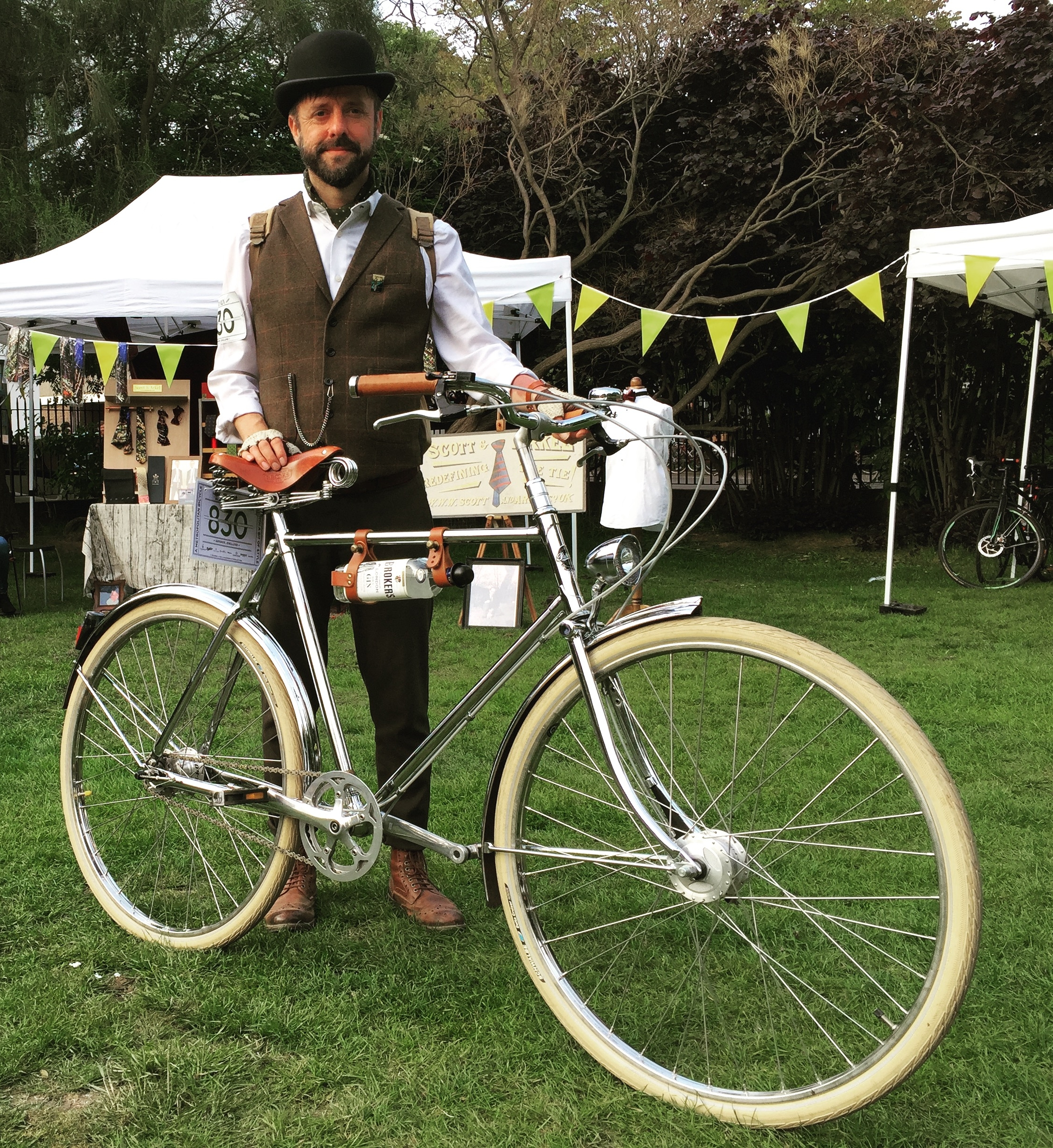 Keith with his magnificent Pashley Phantom at the Tweed Run.