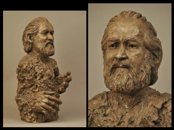 """MAESTRO, JIMMY McGARY"". Cast stone from clay original for bronze. About life size."