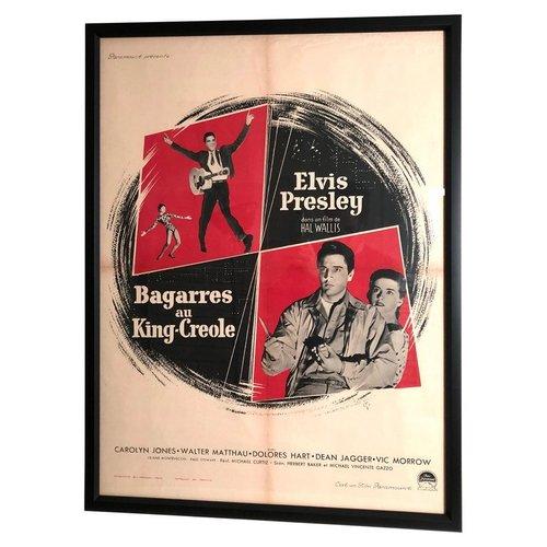 e2b695216803e Original Elvis Presley French Movie Poster for King Creole, circa 1958 —  Andrew Spindler Antiques & Design