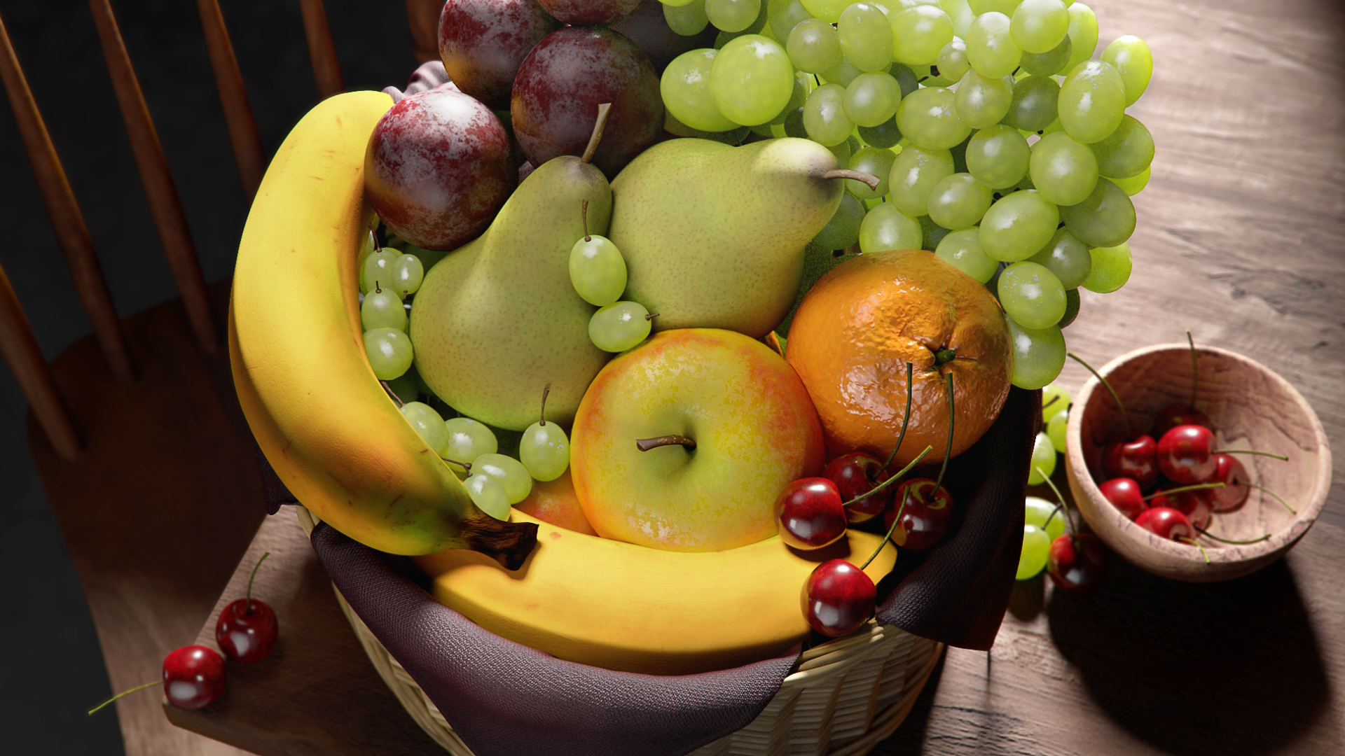 Fruit Still Life  All aspects except models. 2018