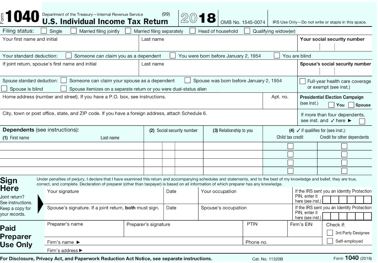 Describes new Form 1040, Schedules & Tax Tables
