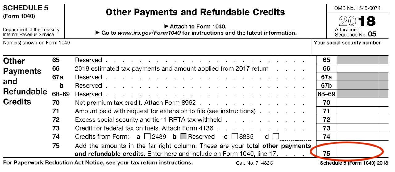 form 1040 line 22  Describes new Form 17, Schedules & Tax Tables