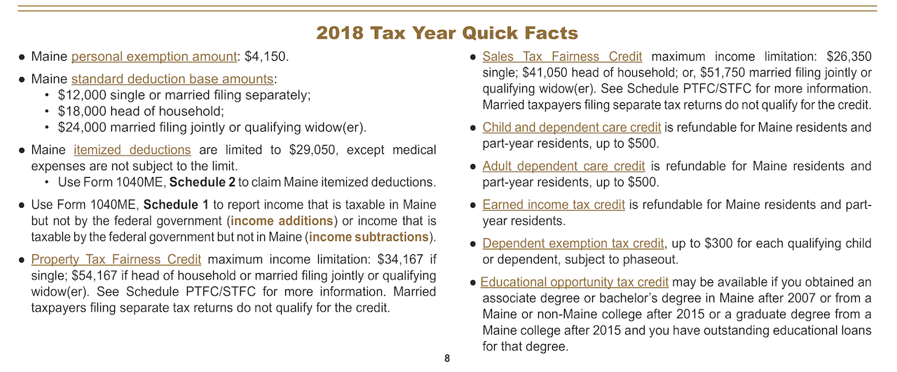 page 8 of   2018 Maine Income Tax Booklet