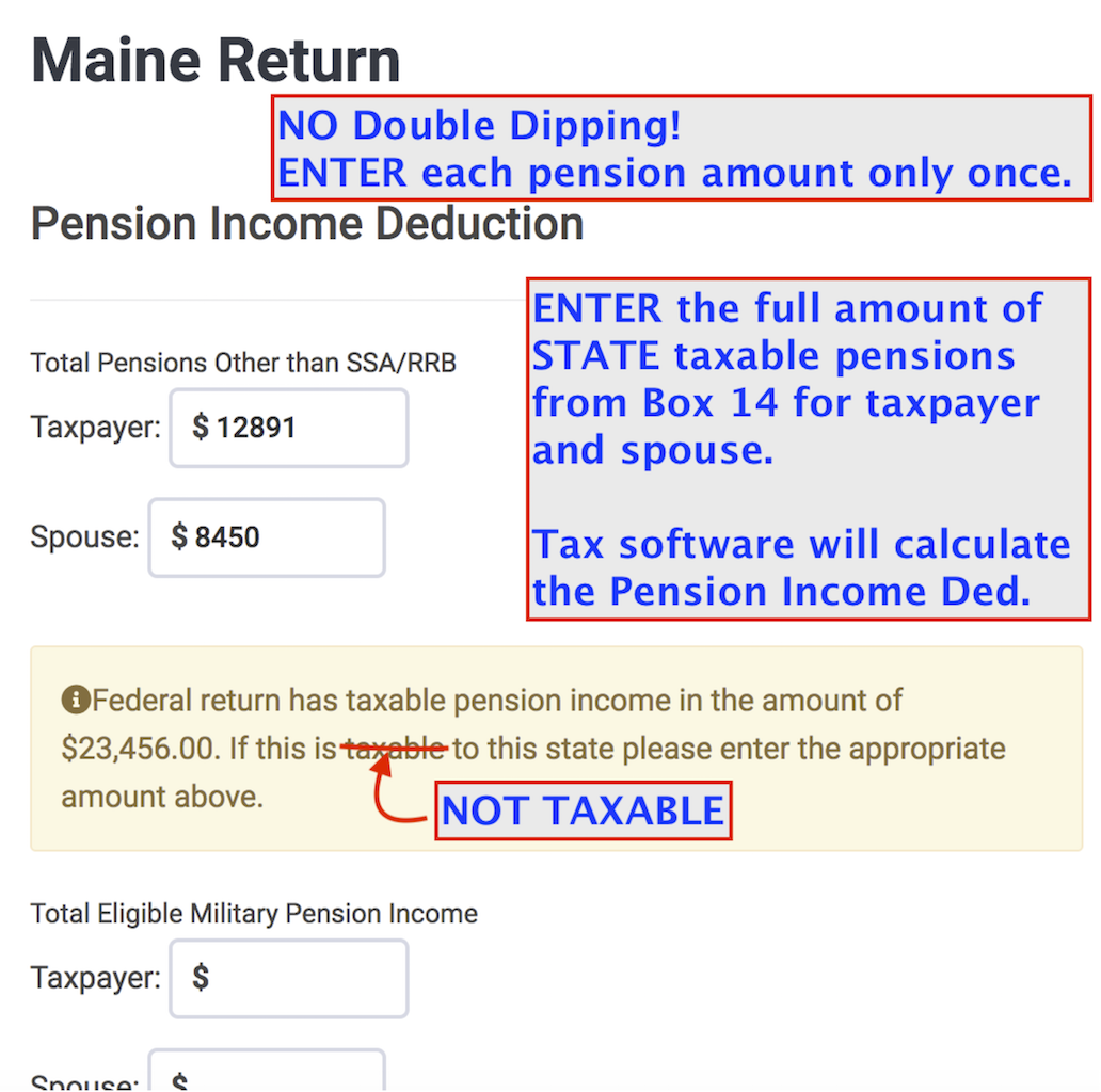 Maine  >  Subtractions From Income  >  Pension Income Deduction