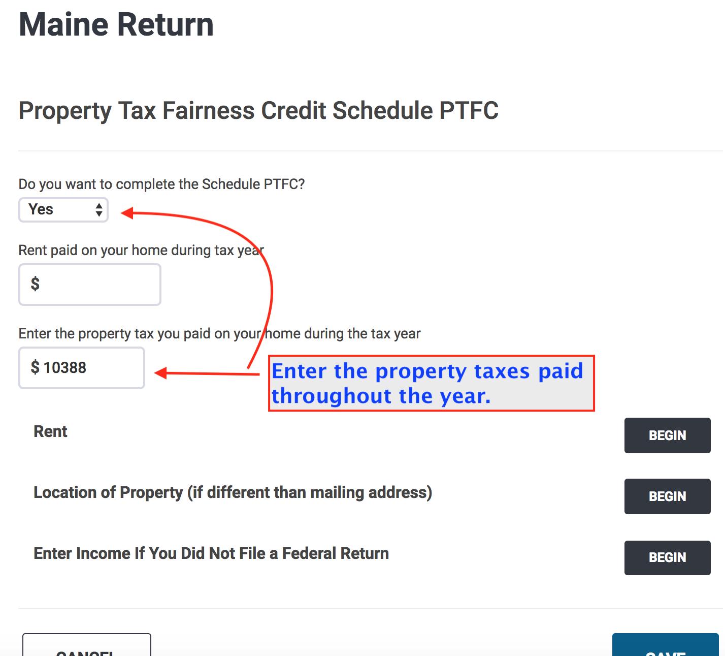 Maine > Credits > Property Tax Fairness Credit