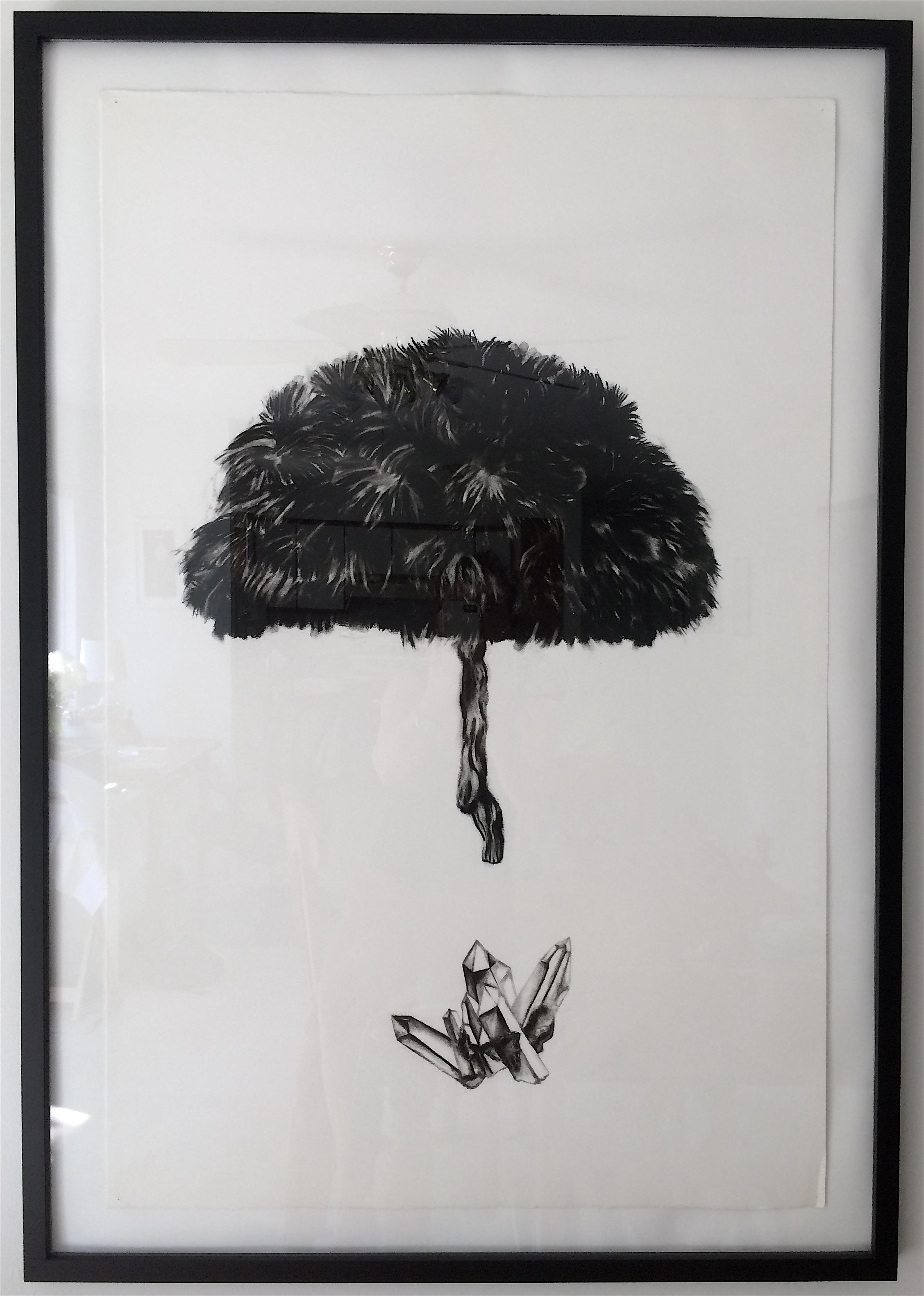 "Tree Crystal 38""x 24"" (charcoal)"