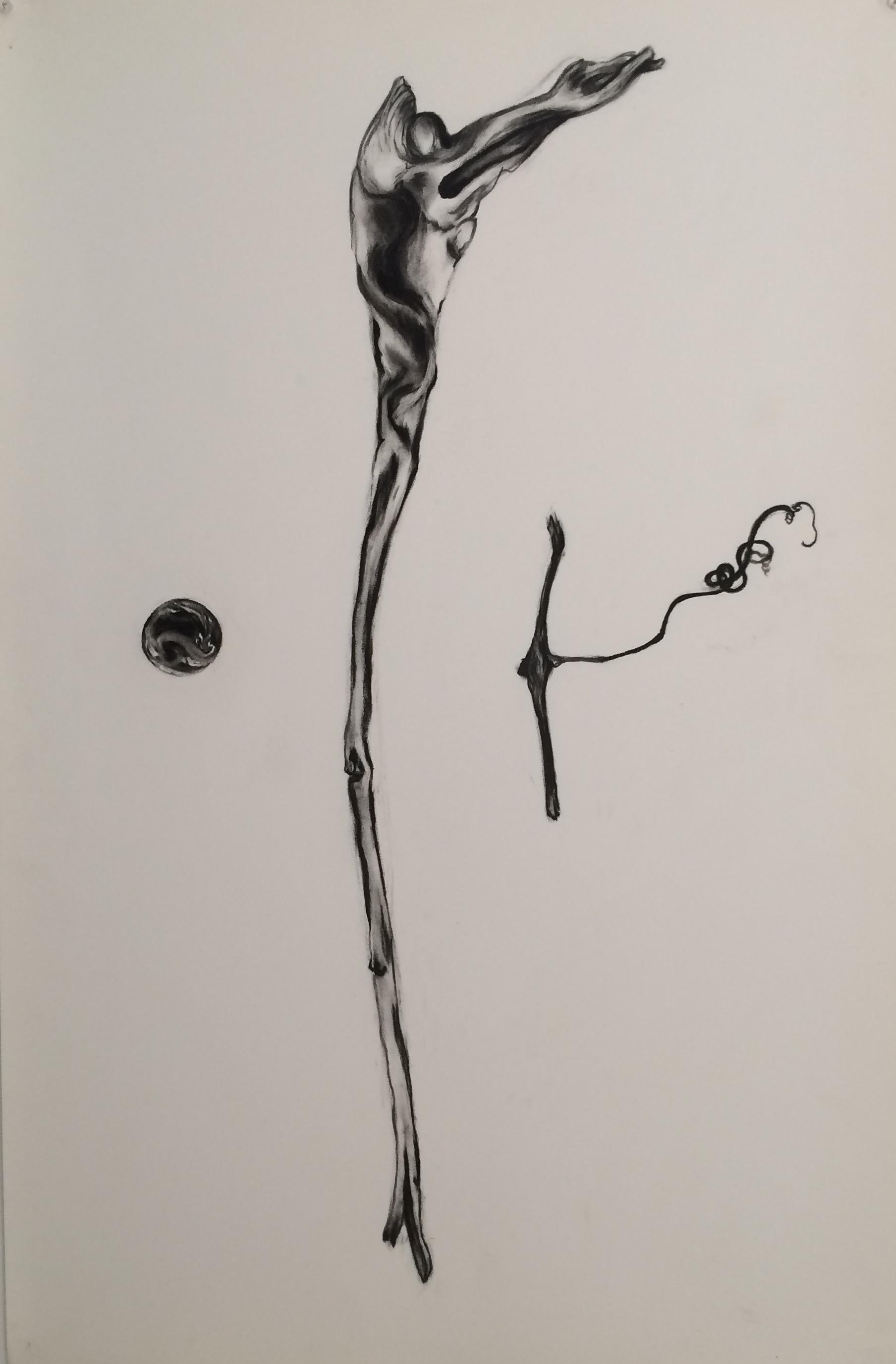"Stick Planet ""38x24"" (charcoal)"