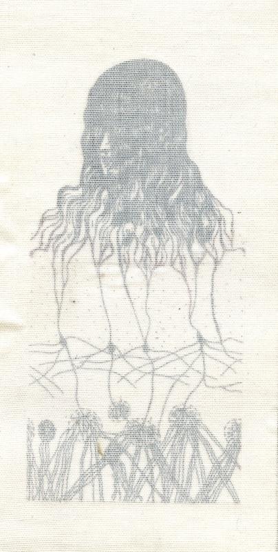 Girl Hair Gray 2 1/2 x 4