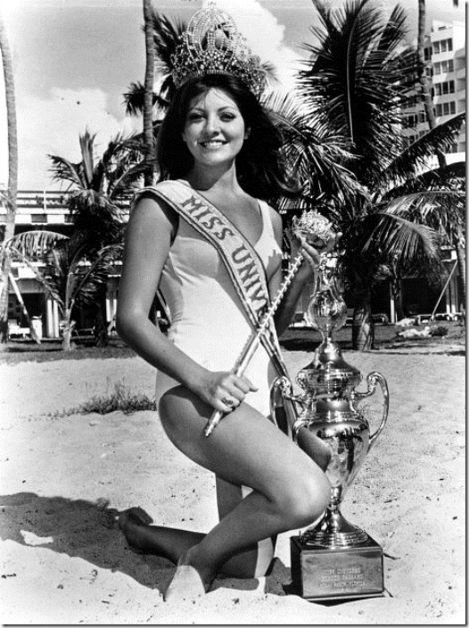 Georgina Rizk, Miss Universe 1971, was considered one of the sexist women in the world.