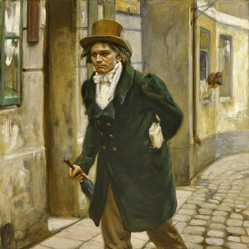 Beethoven  by Carlo Wostry (1865 - 1943)    59 x 59 inches, oil on canvas    Class of Summer 1930