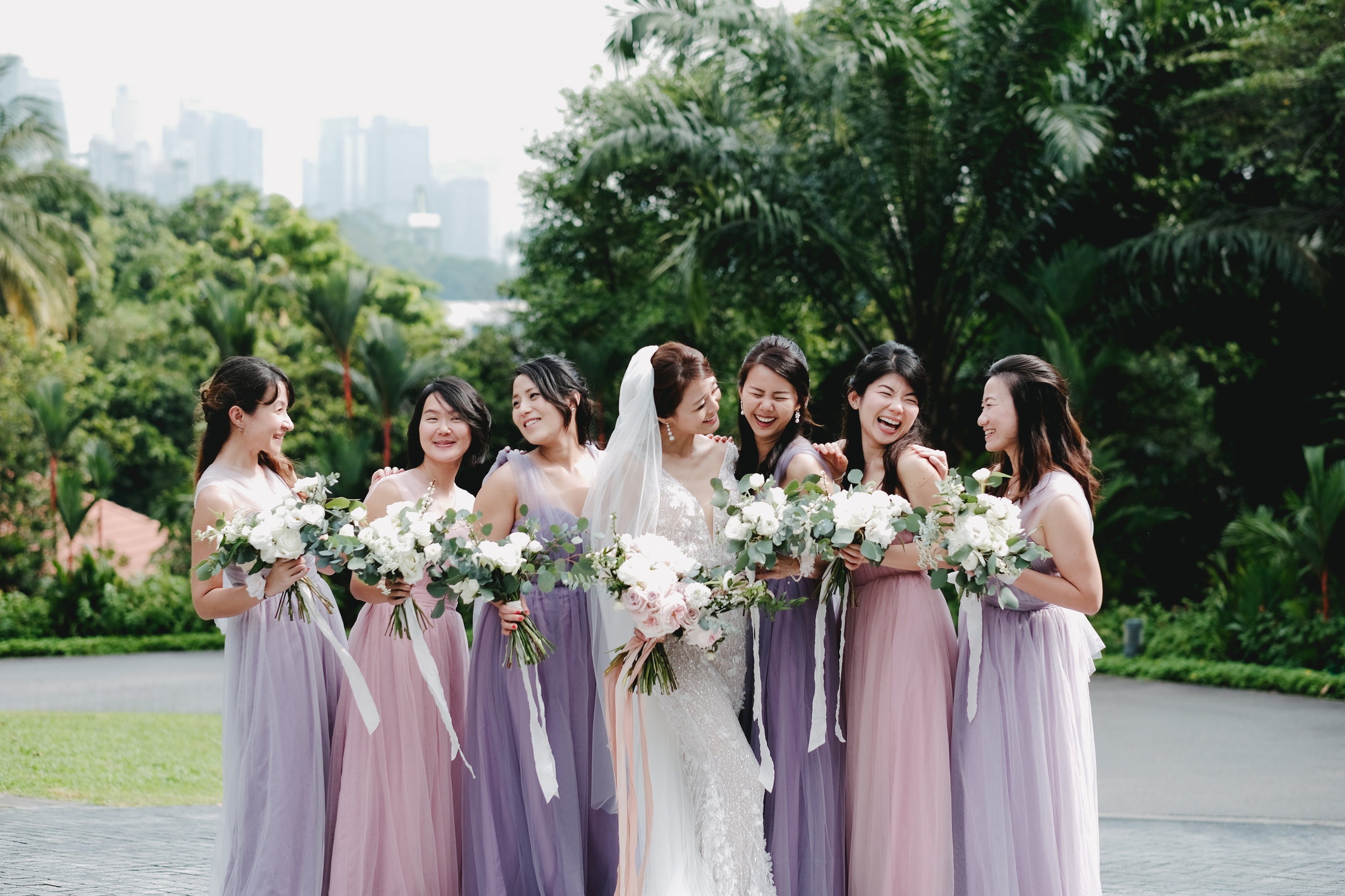Moments.  Bridesmaids, what would brides do without them. Pure bliss of friendship.