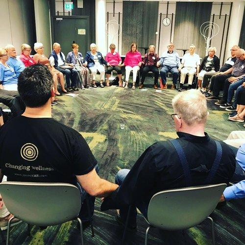 Ordförandekonferens med Parkinson förbundet i Lund, våren 2018 med gemensam Hikari enhets övning.