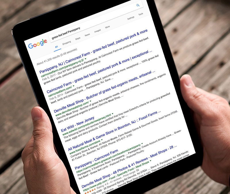Search Engine Optoimization (SEO) - Cairncrest FarmWe worked with Cairncrest Farm to optimize their existing website to make it easier for potential customers to find them in Google. Website traffic from Google increased 70% in just the first month.