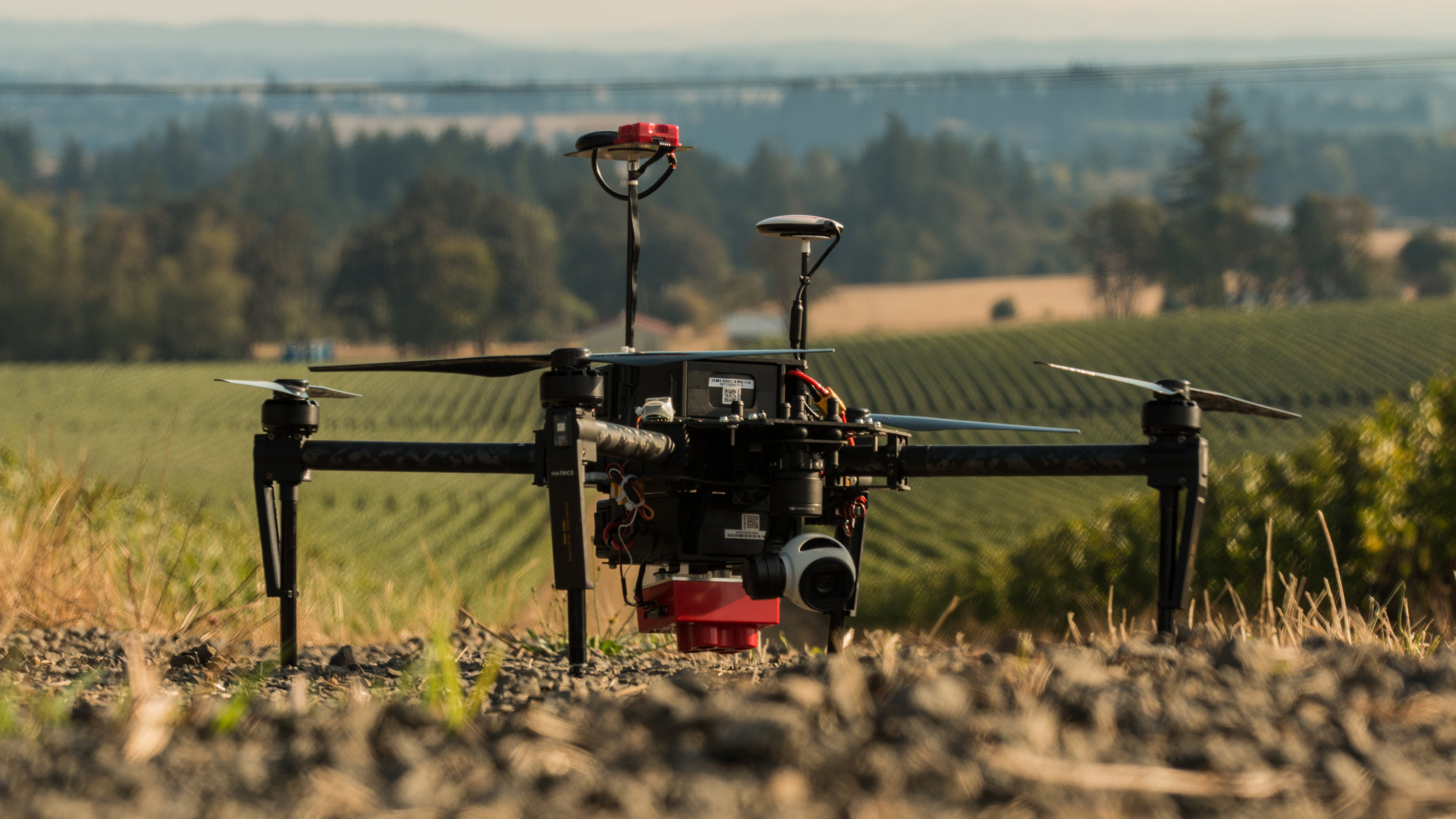 Fly with two cameras            on one drone - Fly a MicaSense sensor and the stock DJI camera at the same time.