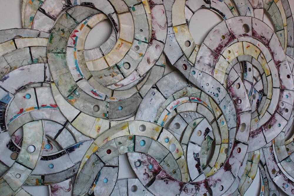 "[Detail] Vessel  (Reedsburg, WI - Detroit, MI)  Paper fast food containers, plastic 144"" x 96"""